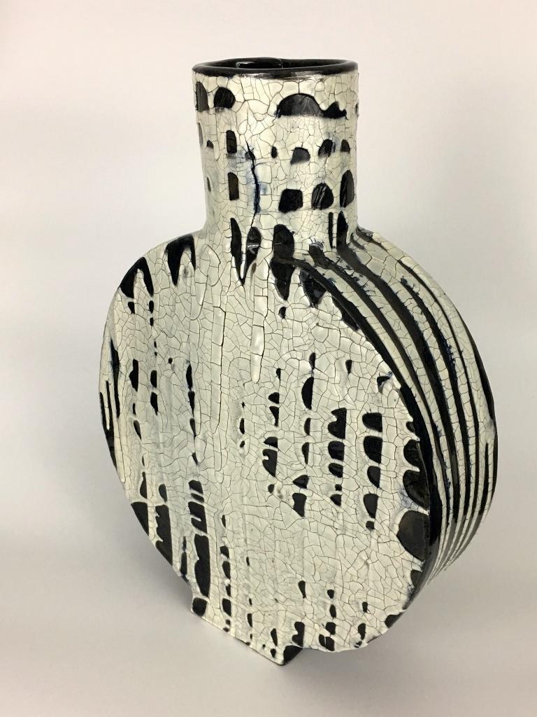 """Large Ceramic Vase , Stoneware and Glaze. 15"""" x 11"""". 2017."""