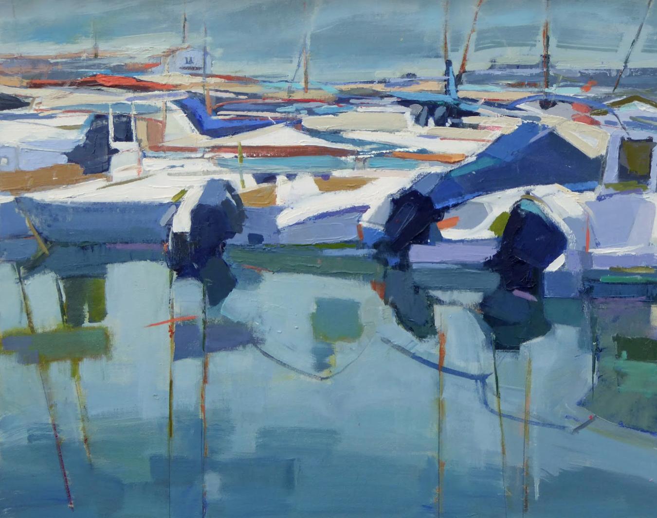 "Port de Soller Majorca  | 24"" x 30"" | Oil on Canvas.  Inquire."