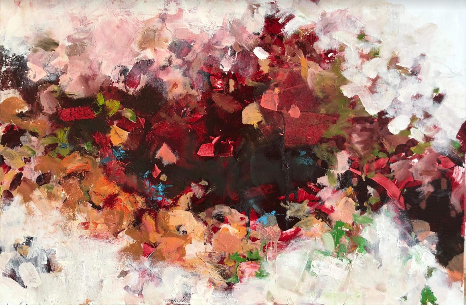 "Red Vortex  | 22"" x 28"" | Oil on Canvas.  Inquire."