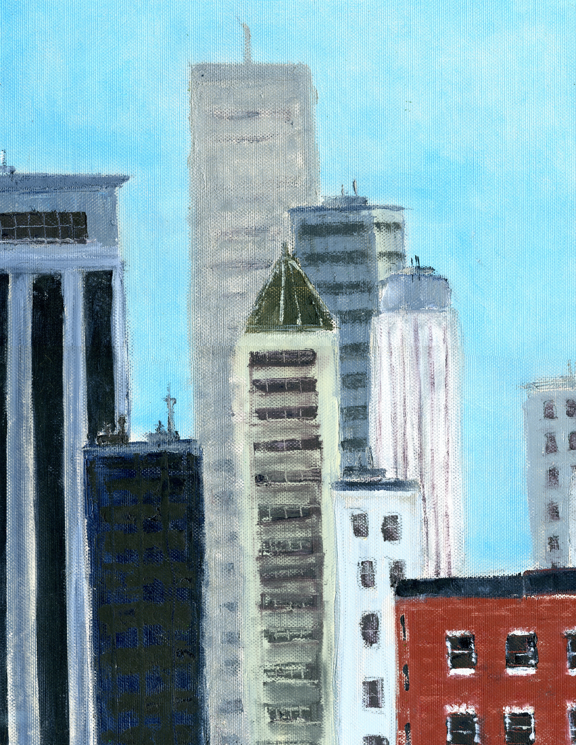 "Spires of Manhattan | 16"" x 12"" 