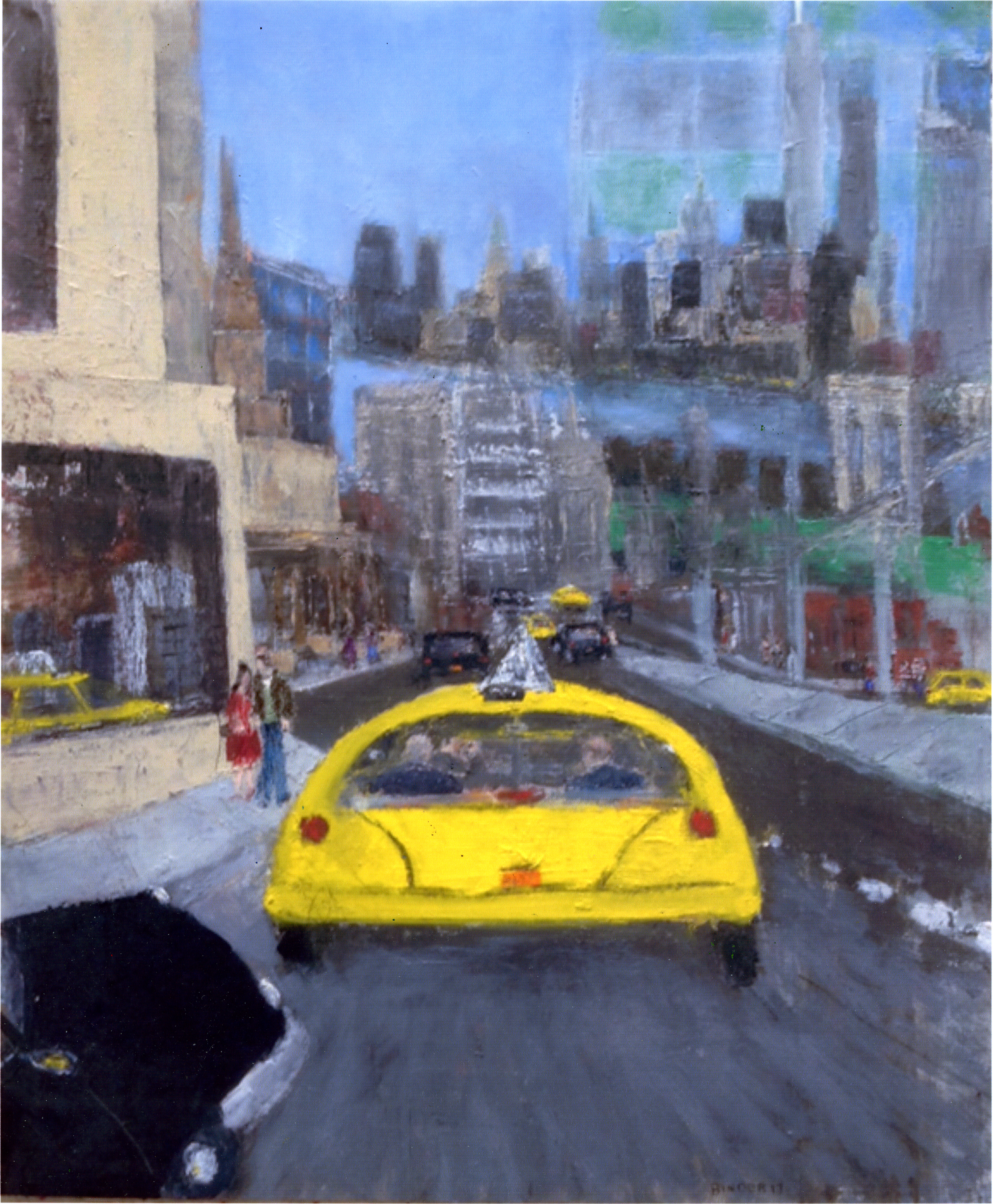 "On the Way to Red Hook   Oil on paper  24"" x 20""  $1035  Click to Enlarge Image   Inquire"