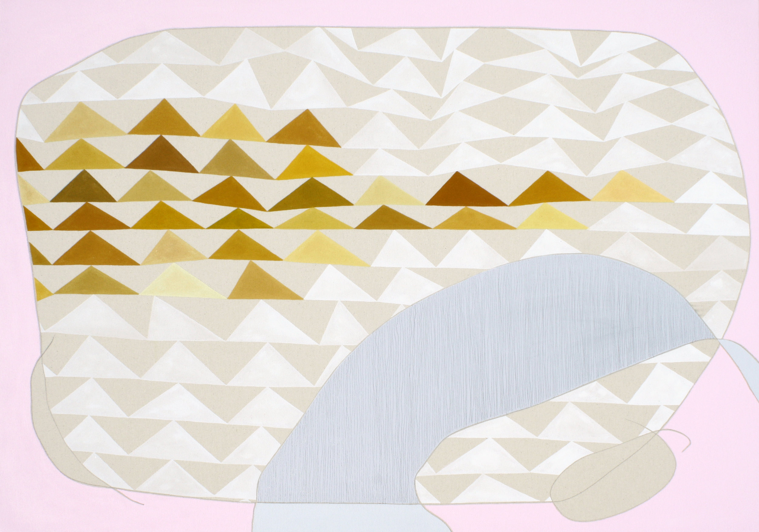 """Recline , Alison Rash. 36"""" x 48"""". Acrylic and graphite on Canvas. $5,500.  Inquire . Image courtesy of  Adah Rose Gallery ."""