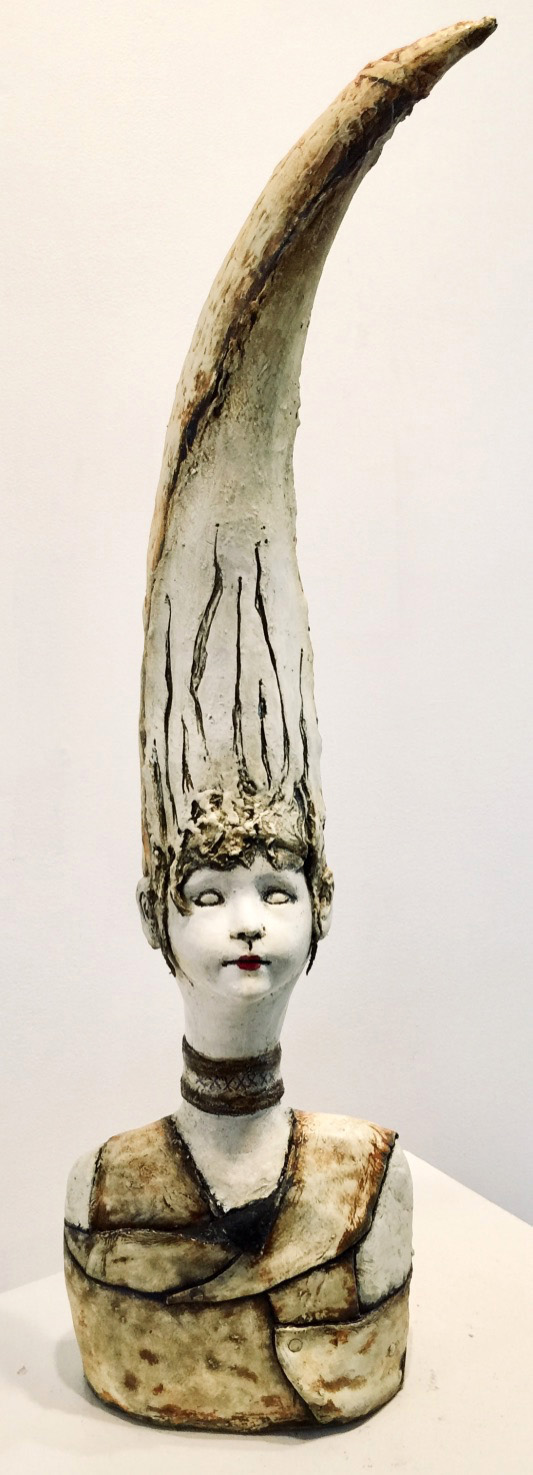Electra   Plaster Wrap, Plaster, Cement, Modeling Compound, Clay, Cast Iron, Acrylic Paint and Medium, Found Objects  $1200