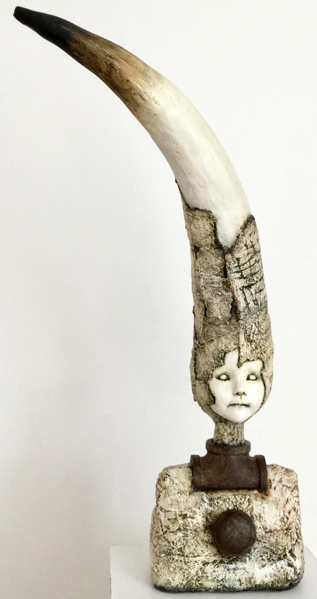 Knobby   Plaster Wrap, Plaster, Cement, Modeling Compound, Clay, Cast Iron, Acrylic Paint and Medium, Found Objects  $1200