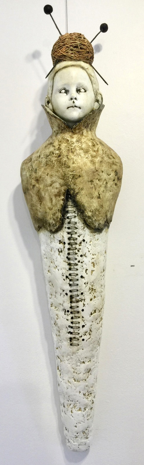 Kibibi (Little Ladie)   Plaster Wrap, Plaster, Cement, Modeling Compound, Clay, Cast Iron, Acrylic Paint and Medium, Found Objects  $900