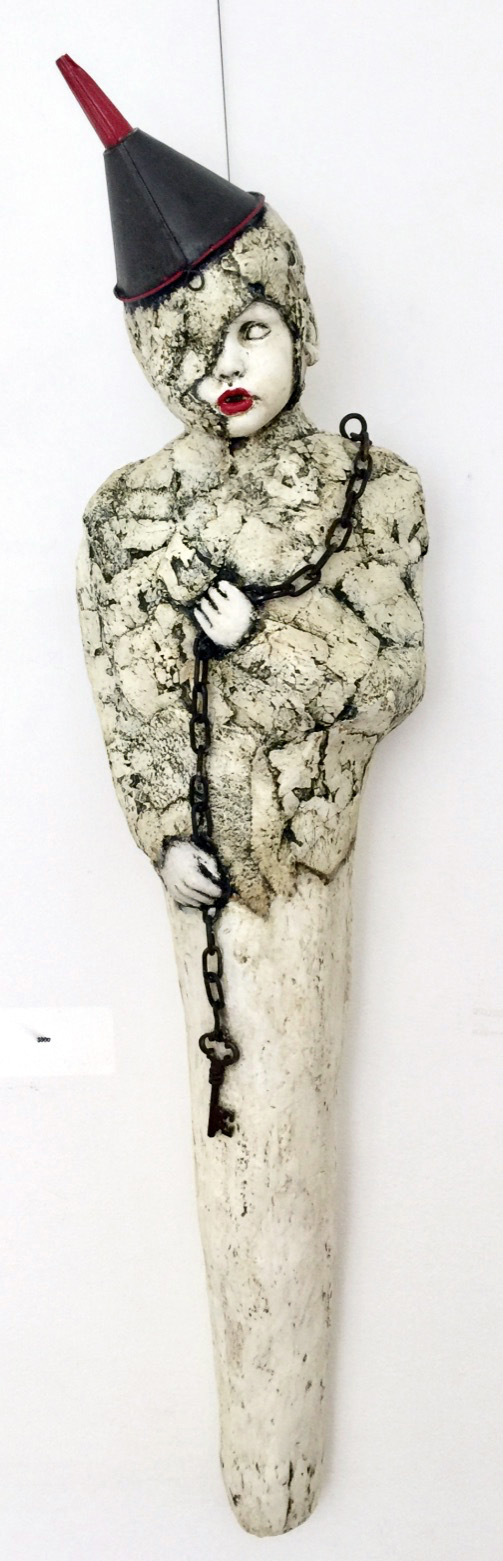 Neptune   Plaster Wrap, Plaster, Cement, Modeling Compound, Clay, Cast Iron, Acrylic Paint and Medium, Found Objects  $900
