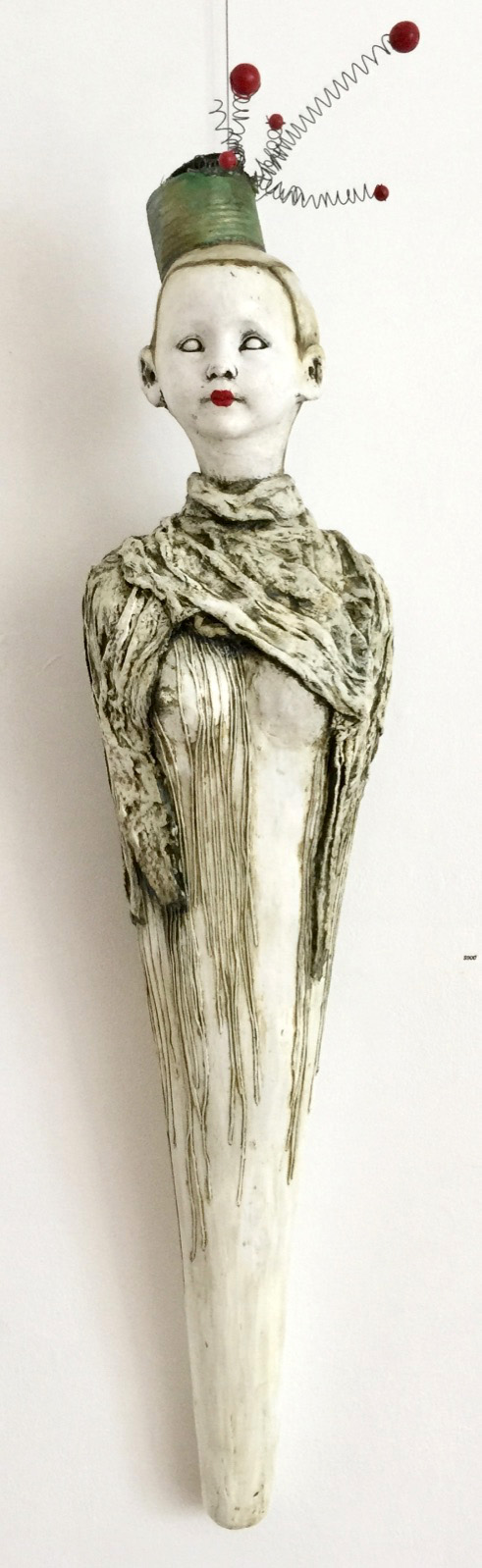 Spik-Spok   Plaster Wrap, Plaster, Cement, Modeling Compound, Clay, Cast Iron, Acrylic Paint and Medium, Found Objects  $900