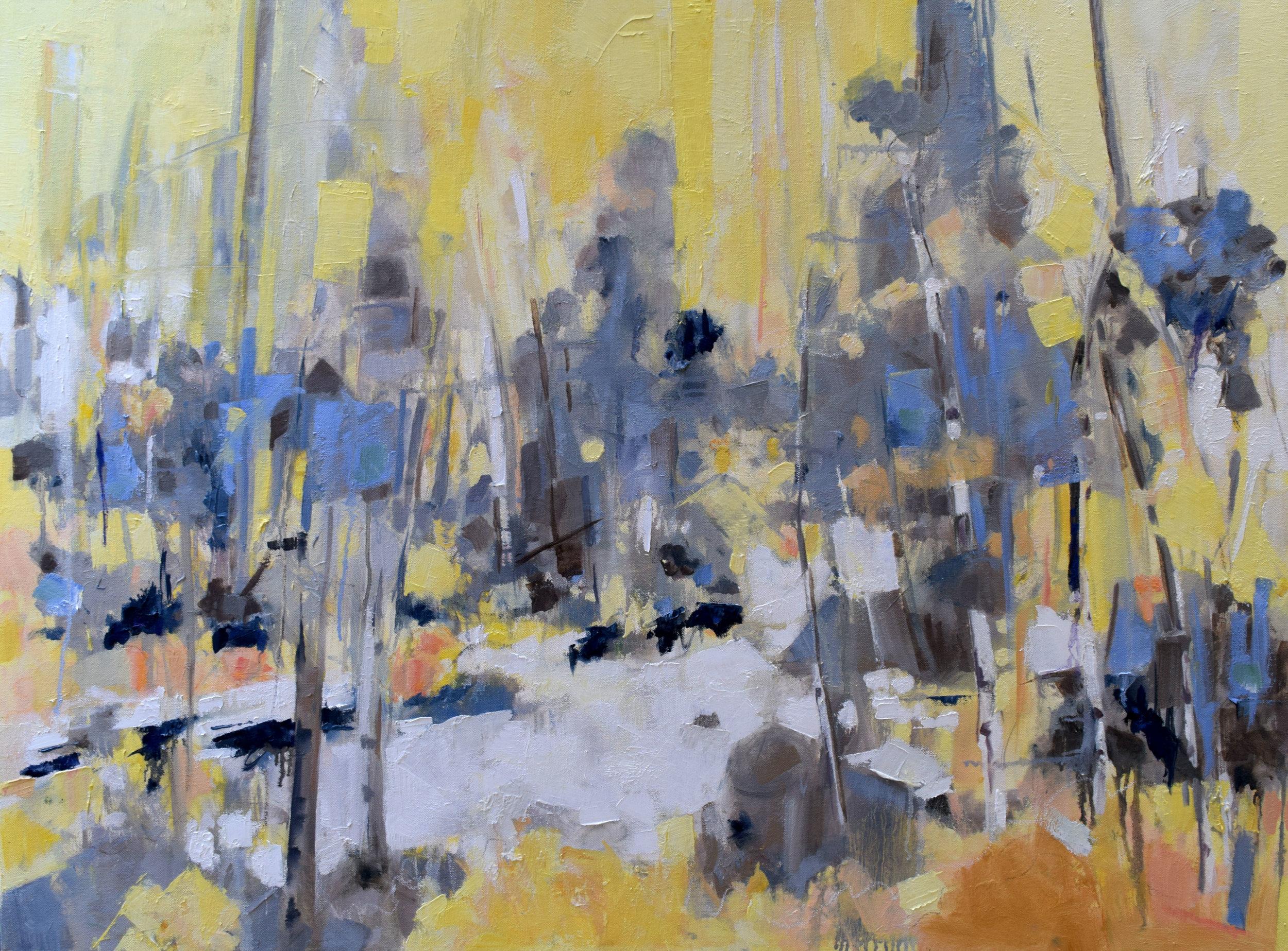 """Treeline   Oil on canvas  30"""" x 40"""""""