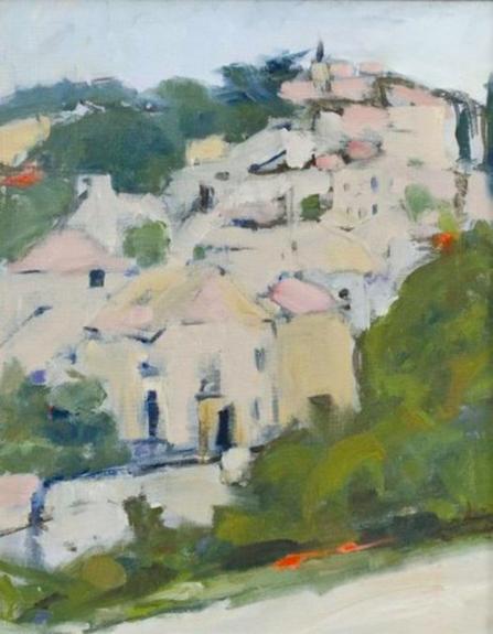 "Provenance Village   Oil on canvas  25"" x 20"""