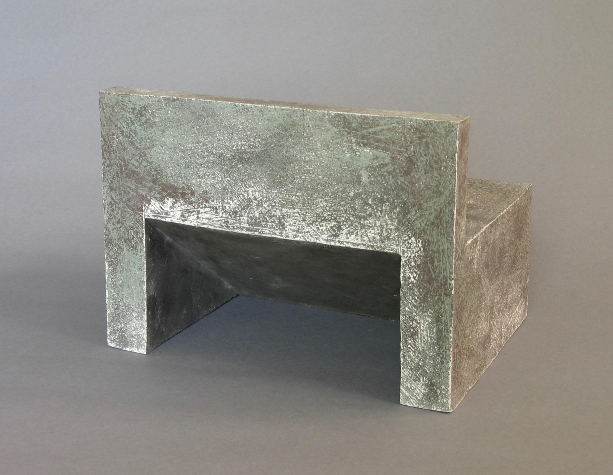 """Structure 11 , 7.6"""" x 10.4"""" x 8"""", Ceramic"""