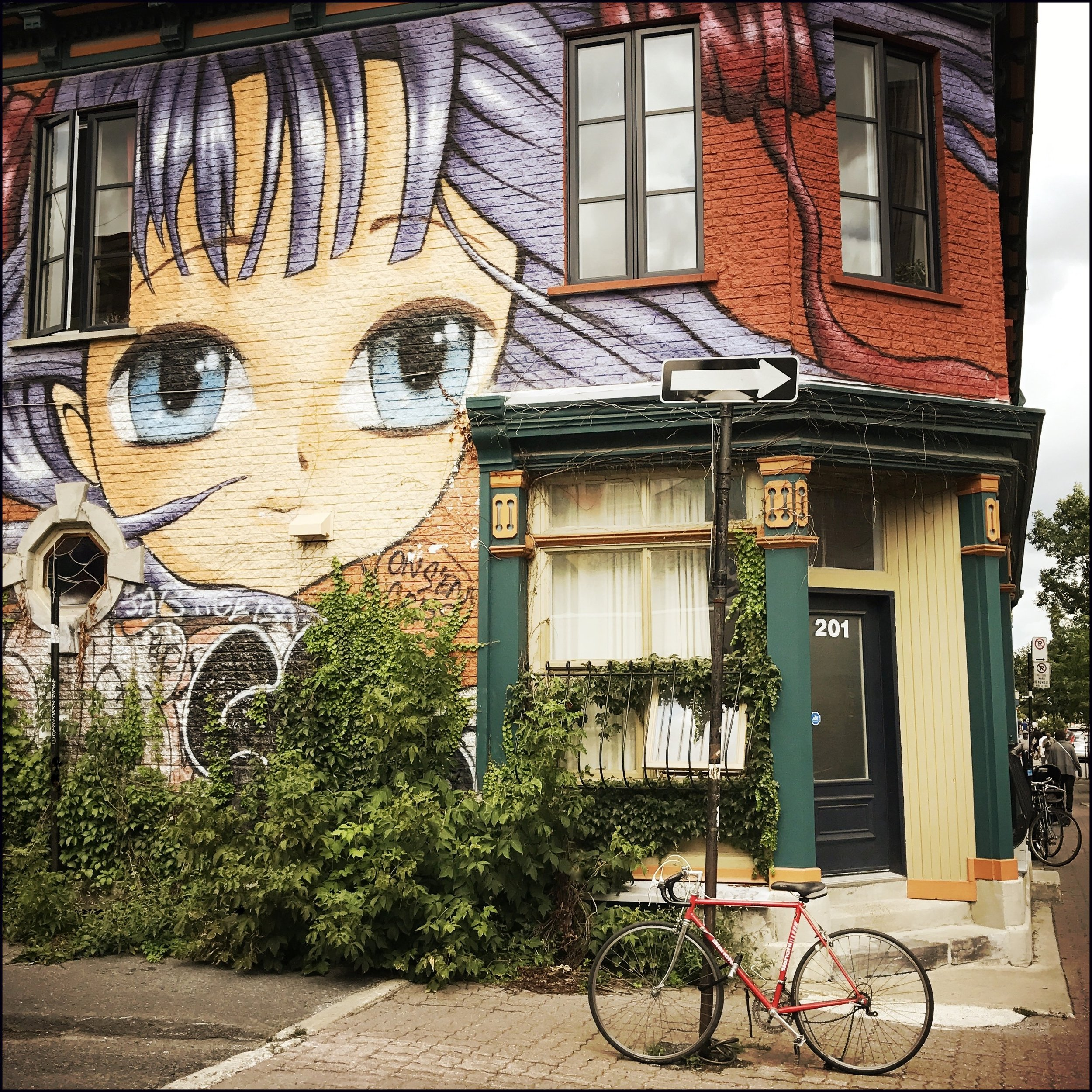 "Big Eyes, Montreal   Archival Pigment Print  20"" x 21""  $300  Click image to enlarge.   Inquire"