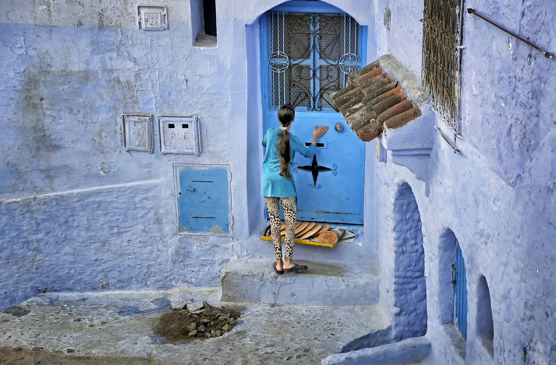 """Chefchaouen, Morocco, November 2017   Archival pigment print  11.25"""" x 16.75""""  $300  Click image to enlarge   Inquire."""