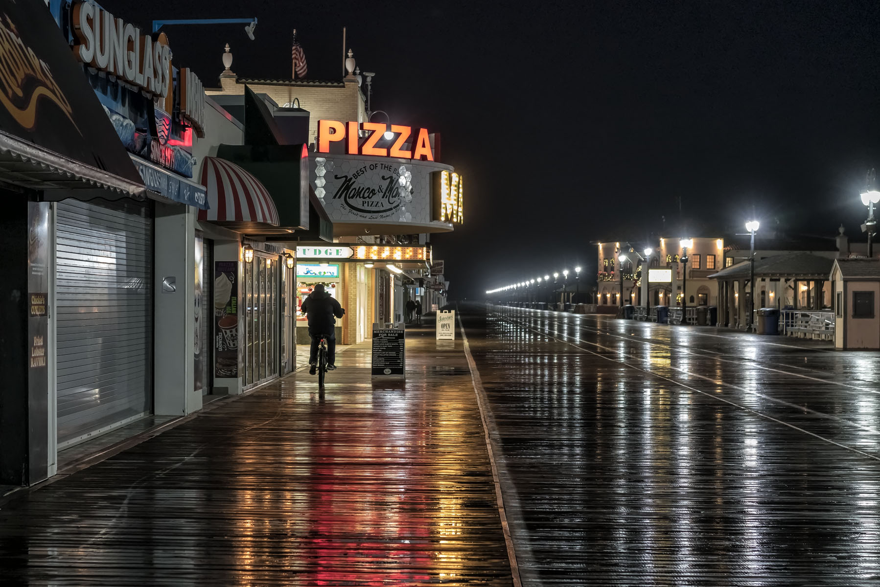 """Ocean City, New Jersey, December 2018   Archival pigment print  11.25"""" x 16.75""""  $300  Click image to enlarge   Inquire."""