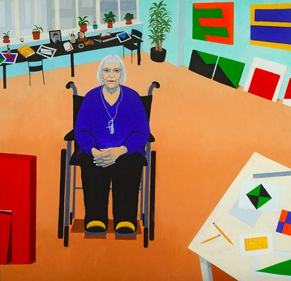 "Homage to Carmen Herrera   Oil on canvas  36"" x 36"""