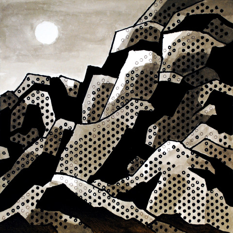 """Under the Moonlight   Acrylics and Sharpies on paper  $425  12"""" x 12""""  Click image to enlarge.   Inquire"""