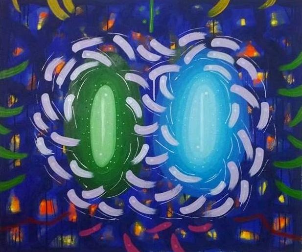 """7777777 #83  Acrylic on canvas  30"""" x 36"""""""