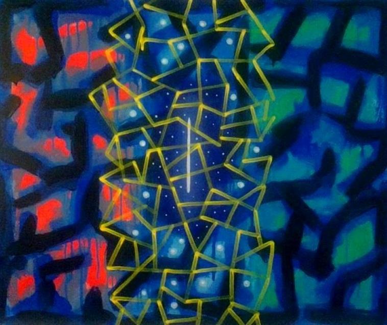 """7777777 #78  Acrylic on canvas  30"""" x 36"""""""