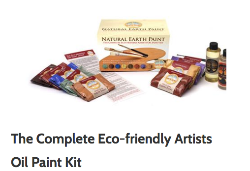 Don't have time to make your own paint? That's perfectly ok! Try  this set  of eco-friendly oil paints.