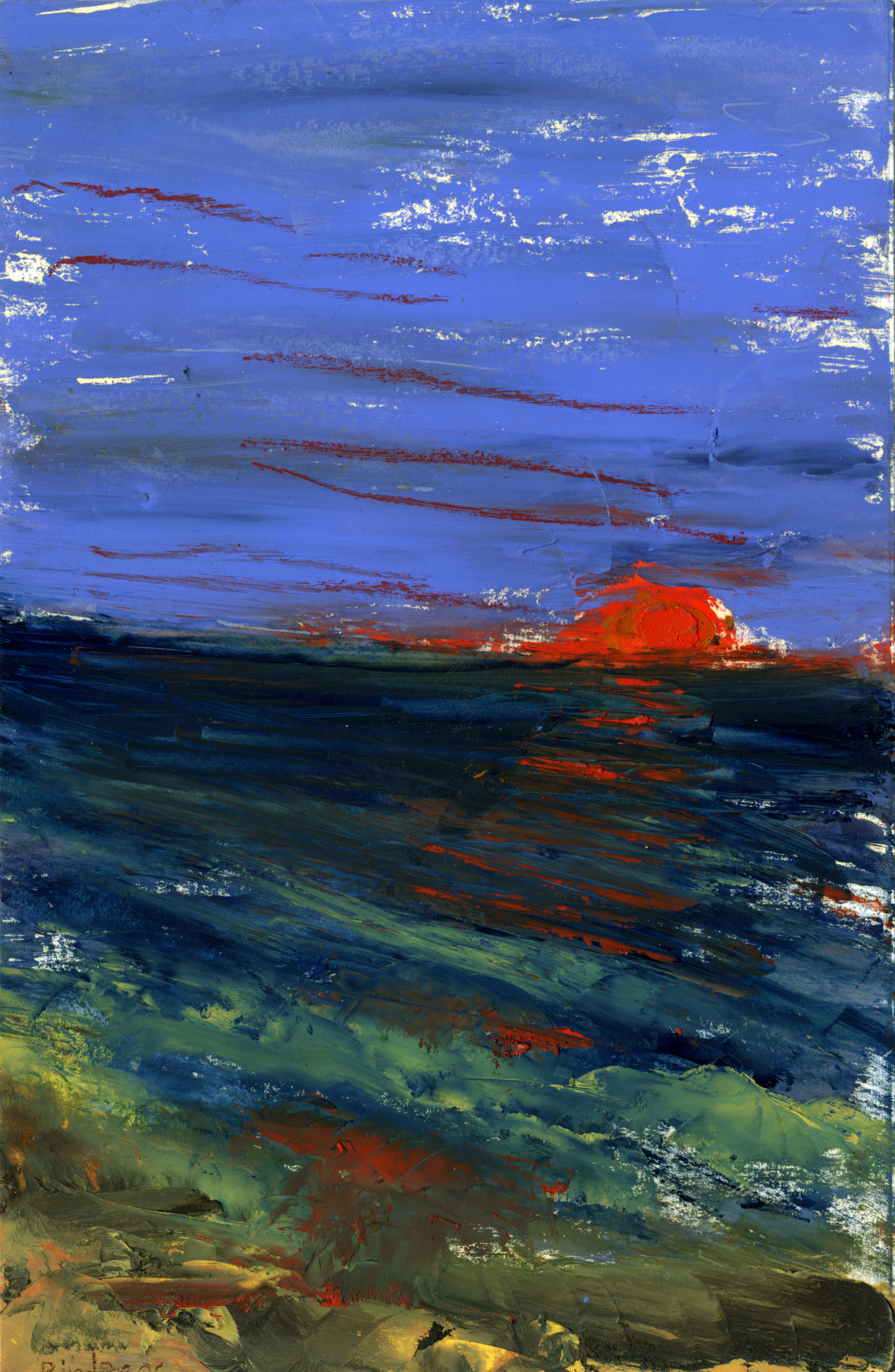 "Sanibel Sunset IV of IX    Oil on paper  8 1/2"" x 5 1/2""   $385  Click image to enlarge  ⦿   Inquire"