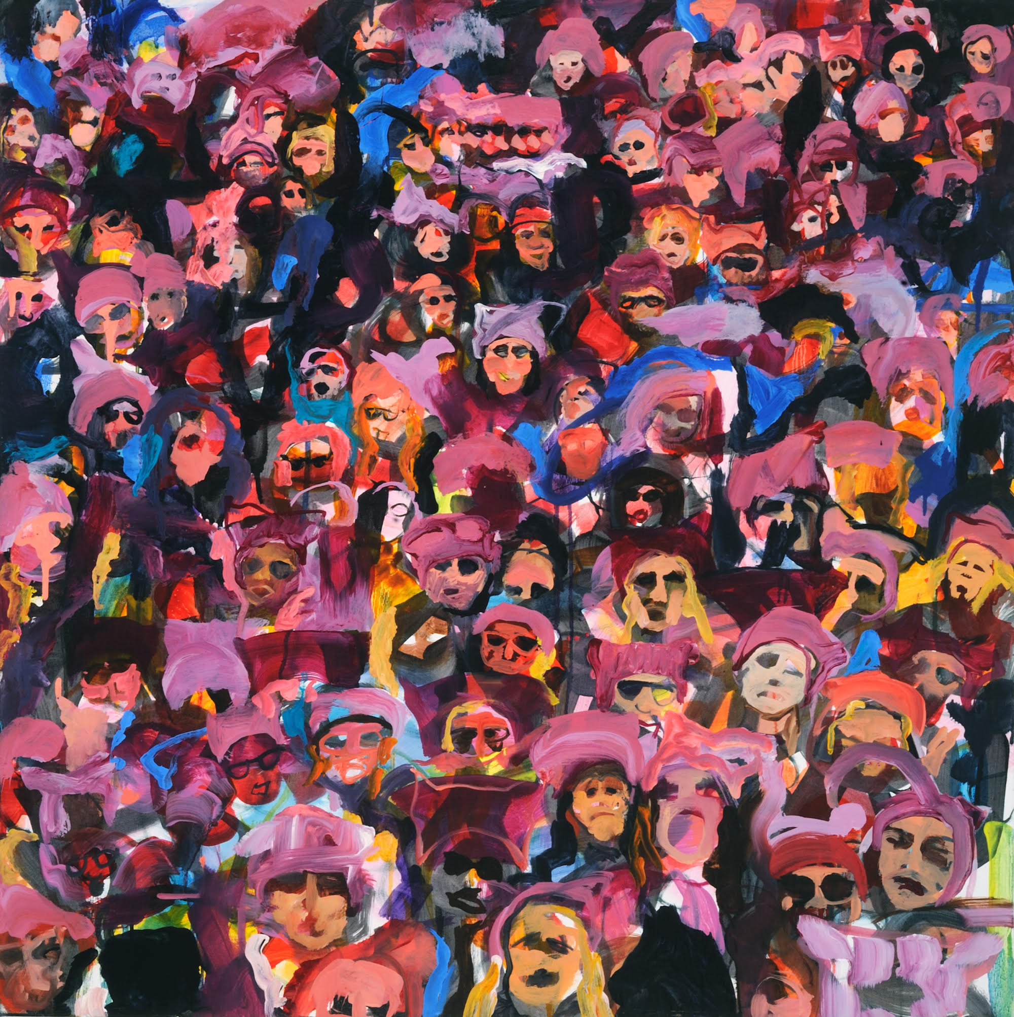 "Nasty Women, 2017, oil on canvas, 30"" x 30"""