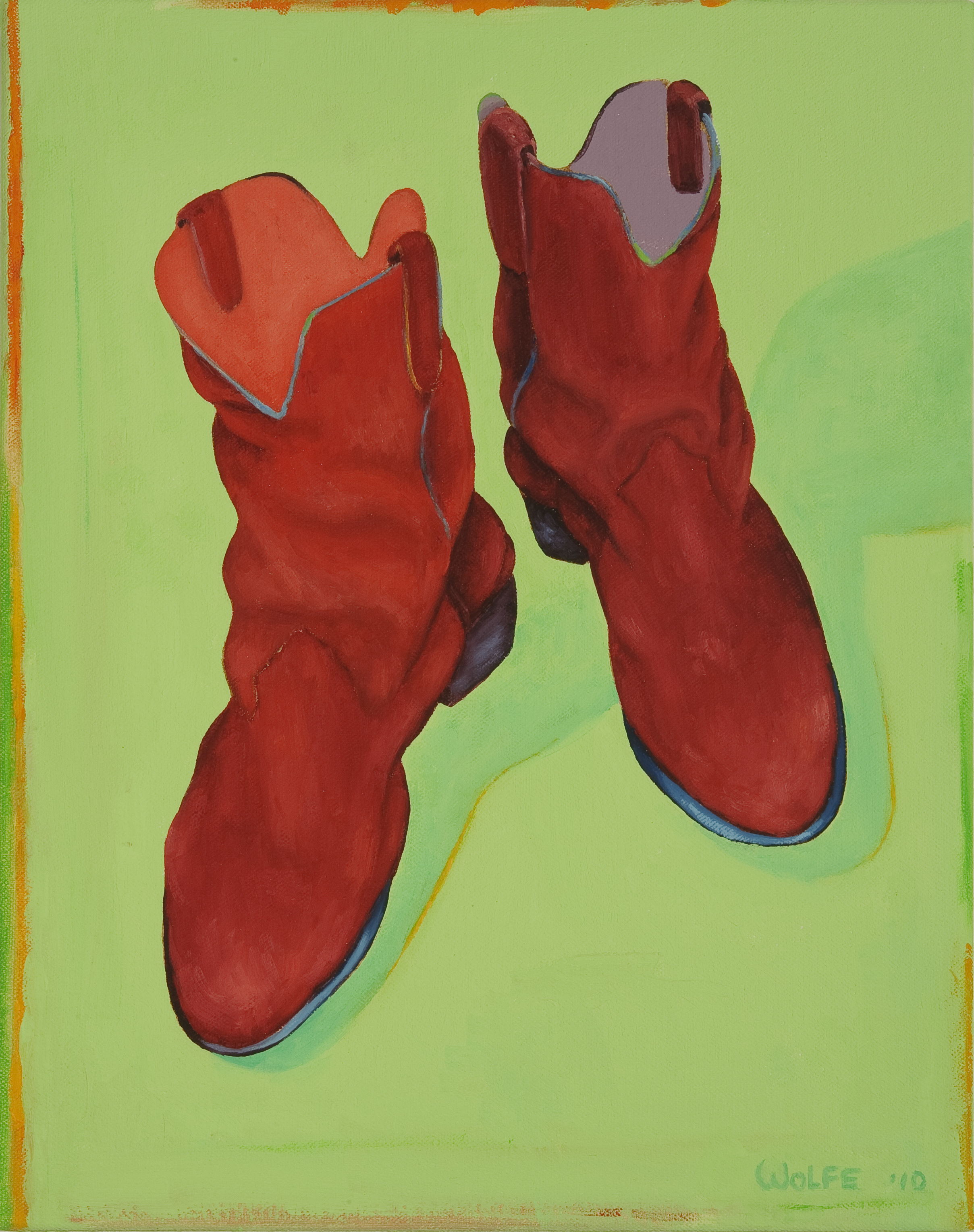 "Boots 1, 2010    Oil on canvas  14"" x 11""  $800  Click image to enlarge ⦿  Inquire"