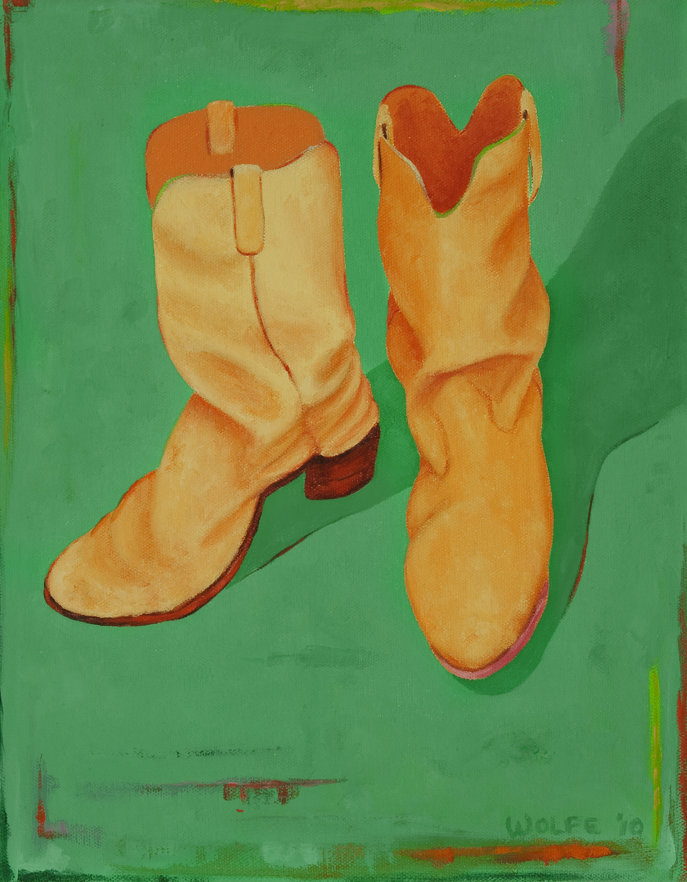 "Boots 2, 2010    Oil on canvas  14"" x 11""  $800  Click image to enlarge ⦿  Inquire"