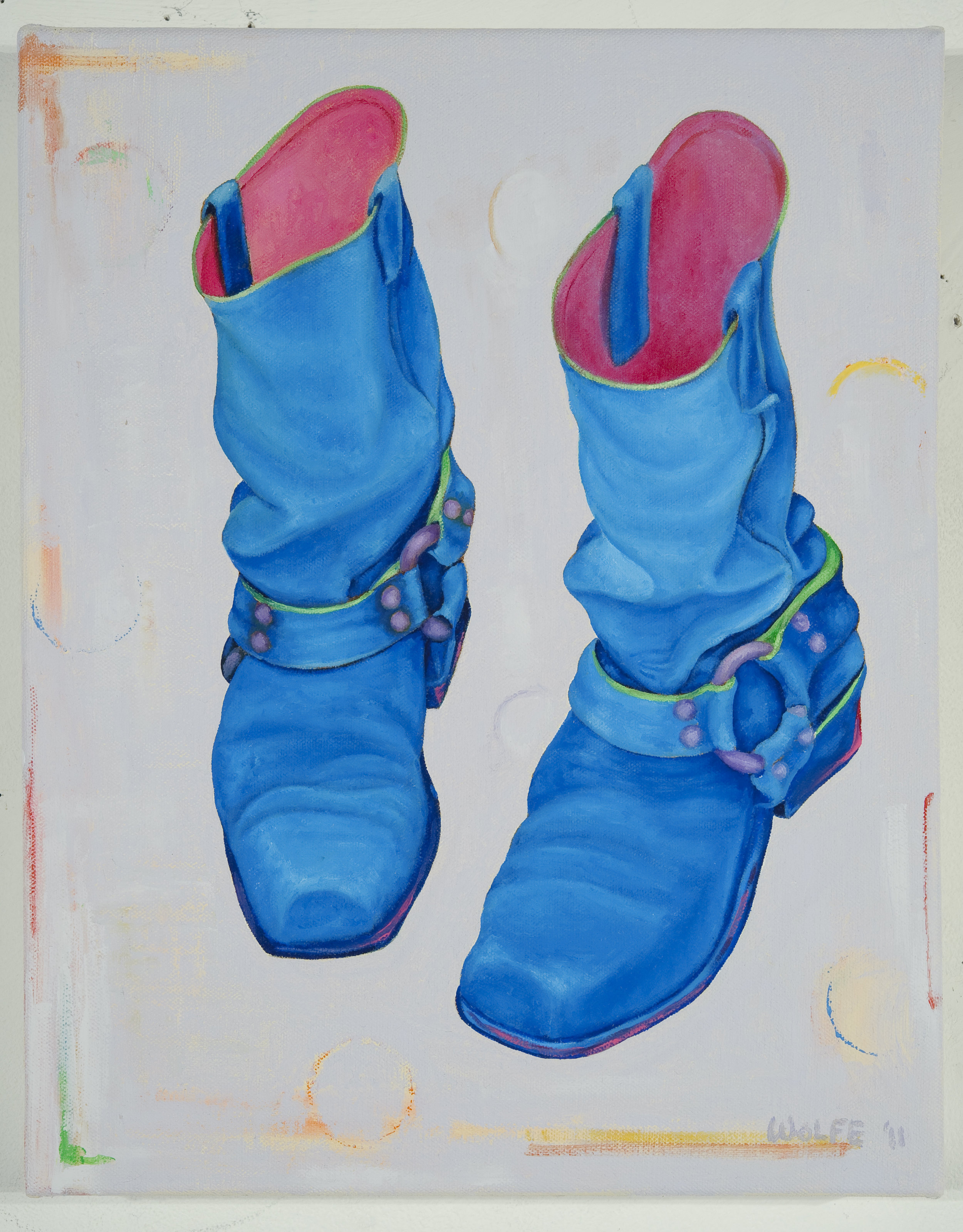 "Boots 3, 2011    Oil on canvas  14"" x 11""  $800  Click image to enlarge ⦿  Inquire"