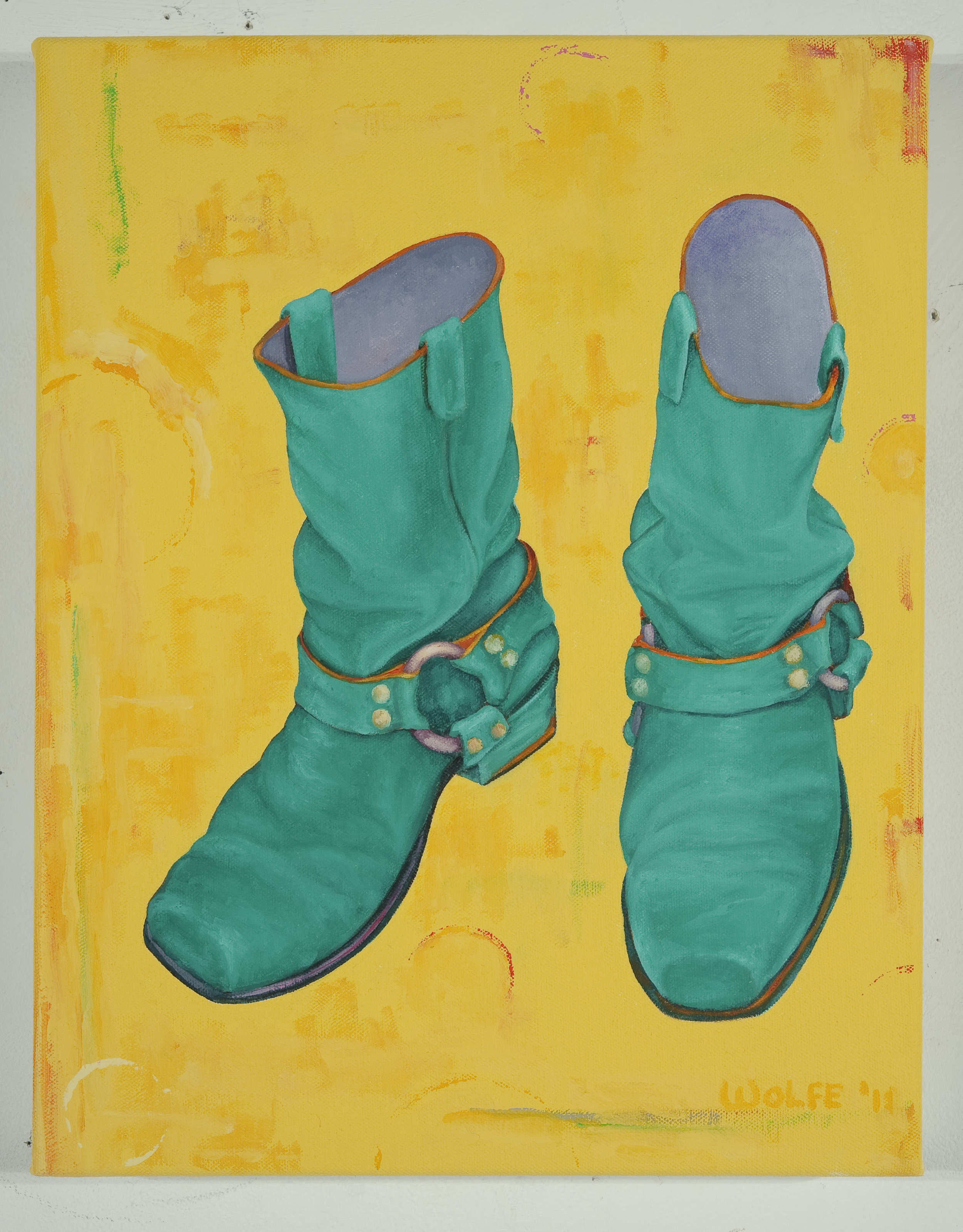 "Boots 4, 2011    Oil on canvas  14"" x 11""  $800  Click image to enlarge ⦿  Inquire"