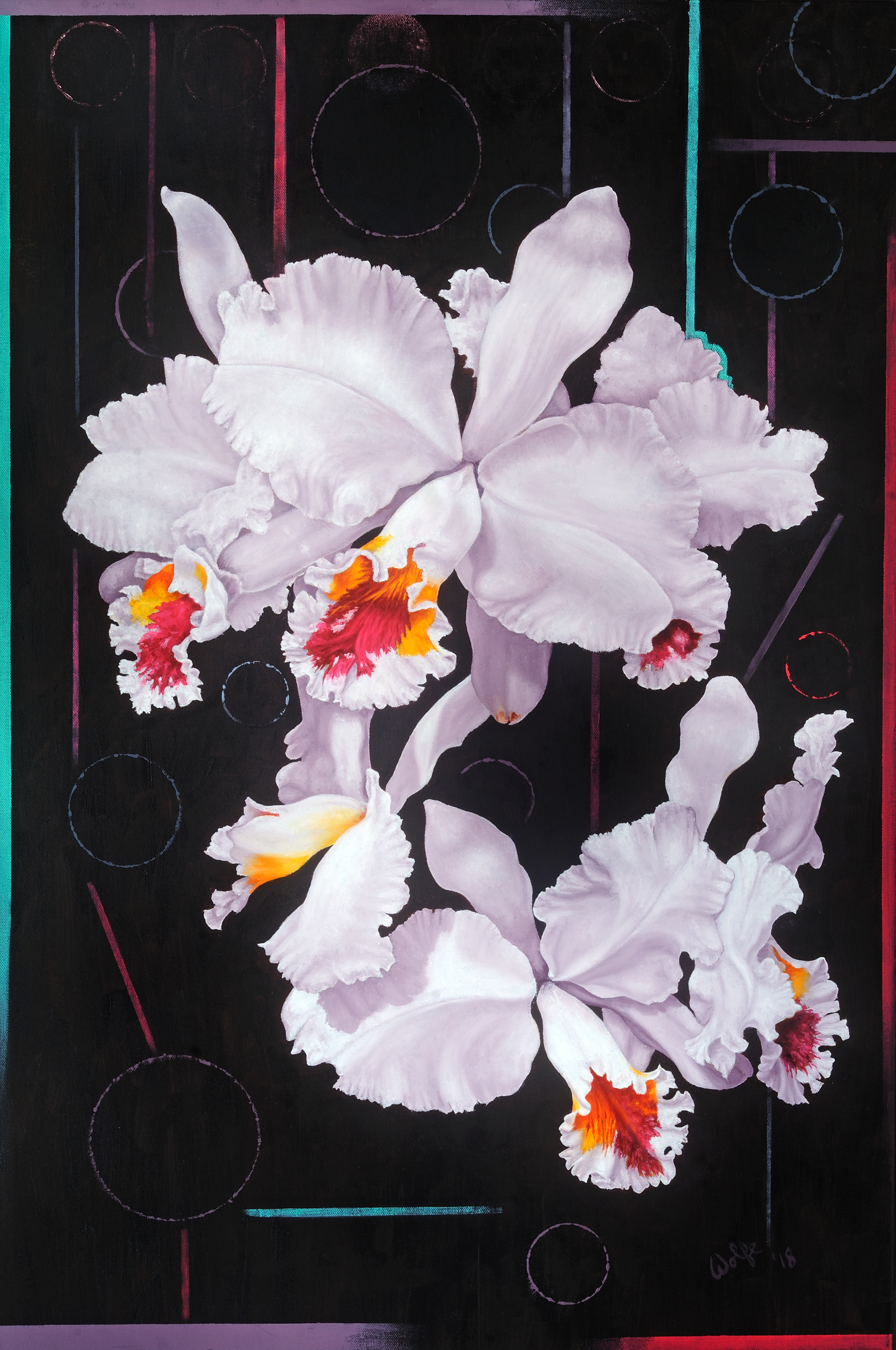 "Orchid Fall, 2018    Oil on canvas  36"" x 24""  $3,200  Click image to enlarge ⦿  Inquire"