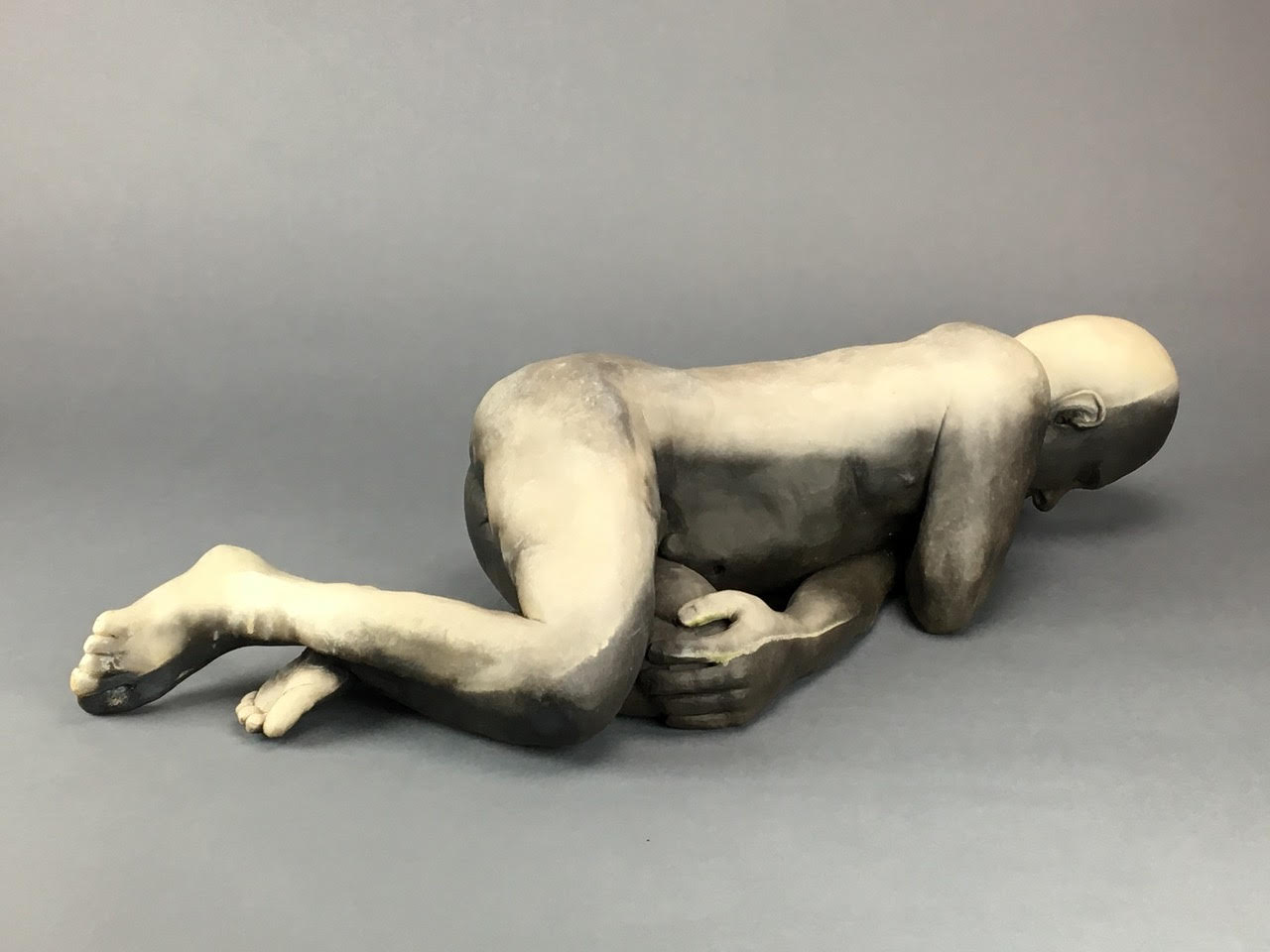 """And The Light and The Dark Came Back Together, Pit-fired Ceramic, 6"""" x 25"""" x 9"""""""