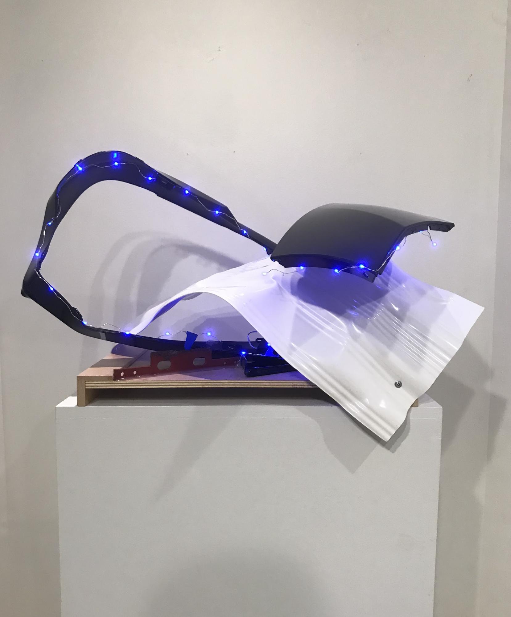 After Mid Night, Jean Jinho Kim, 2019, Installation (plastic, metal, LED), dimensions vary, $1,200