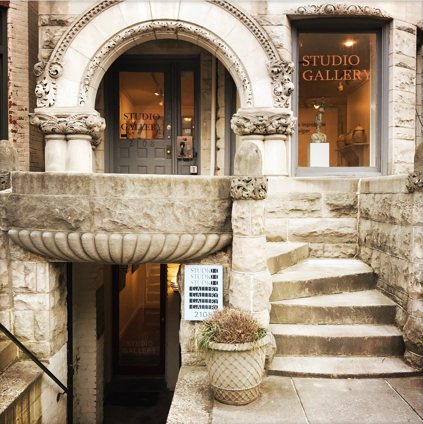 Studio Gallery  is housed in a beautiful historical building, nestled in Dupont Circle.