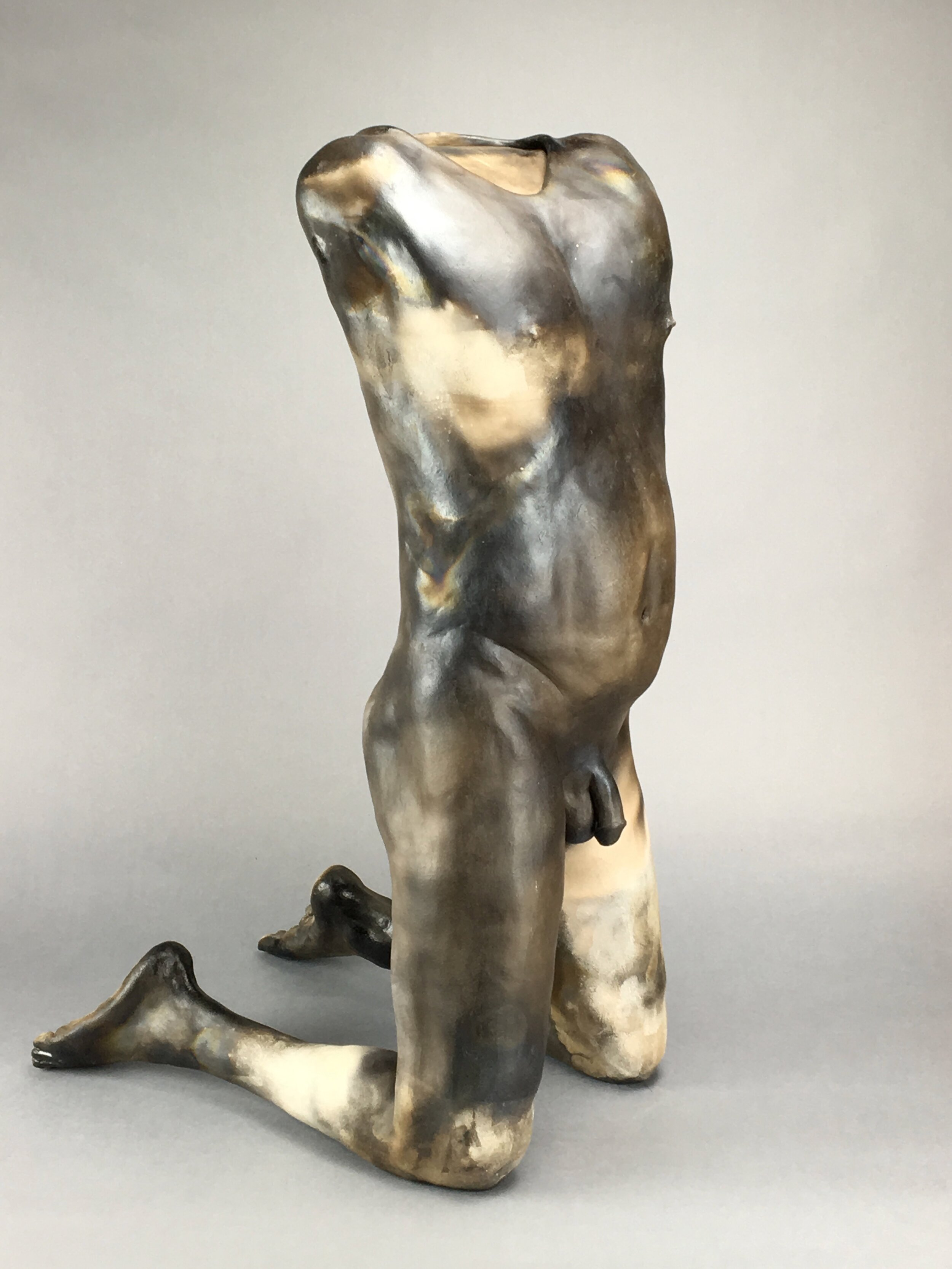 """Call Heaven and Earth to Witness    Pit-fired ceramic  26"""" x 12"""" x 17""""  $3000  Click image to enlarge ⦿  Inquire"""