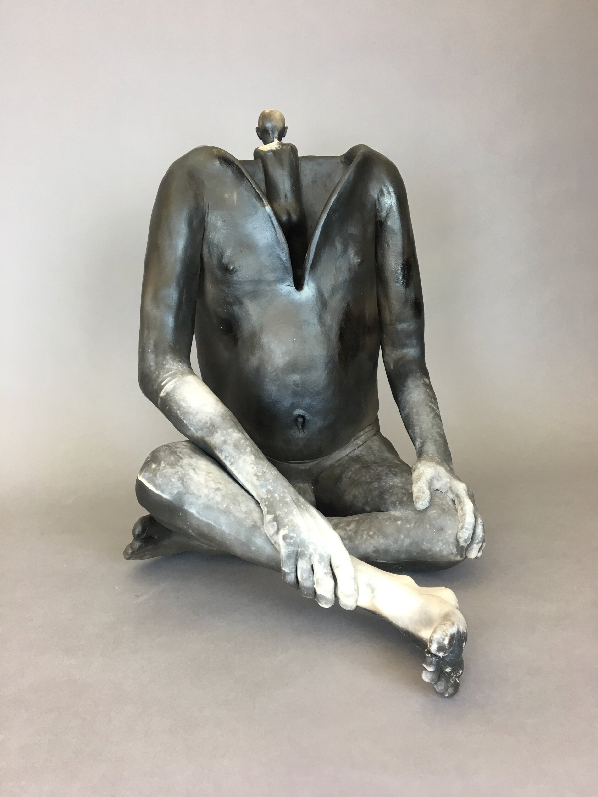 """Handle (Everyone) With Care    Pit-fired ceramic  16"""" x 12"""" x 16""""  $3000  Click image to enlarge ⦿  Inquire"""