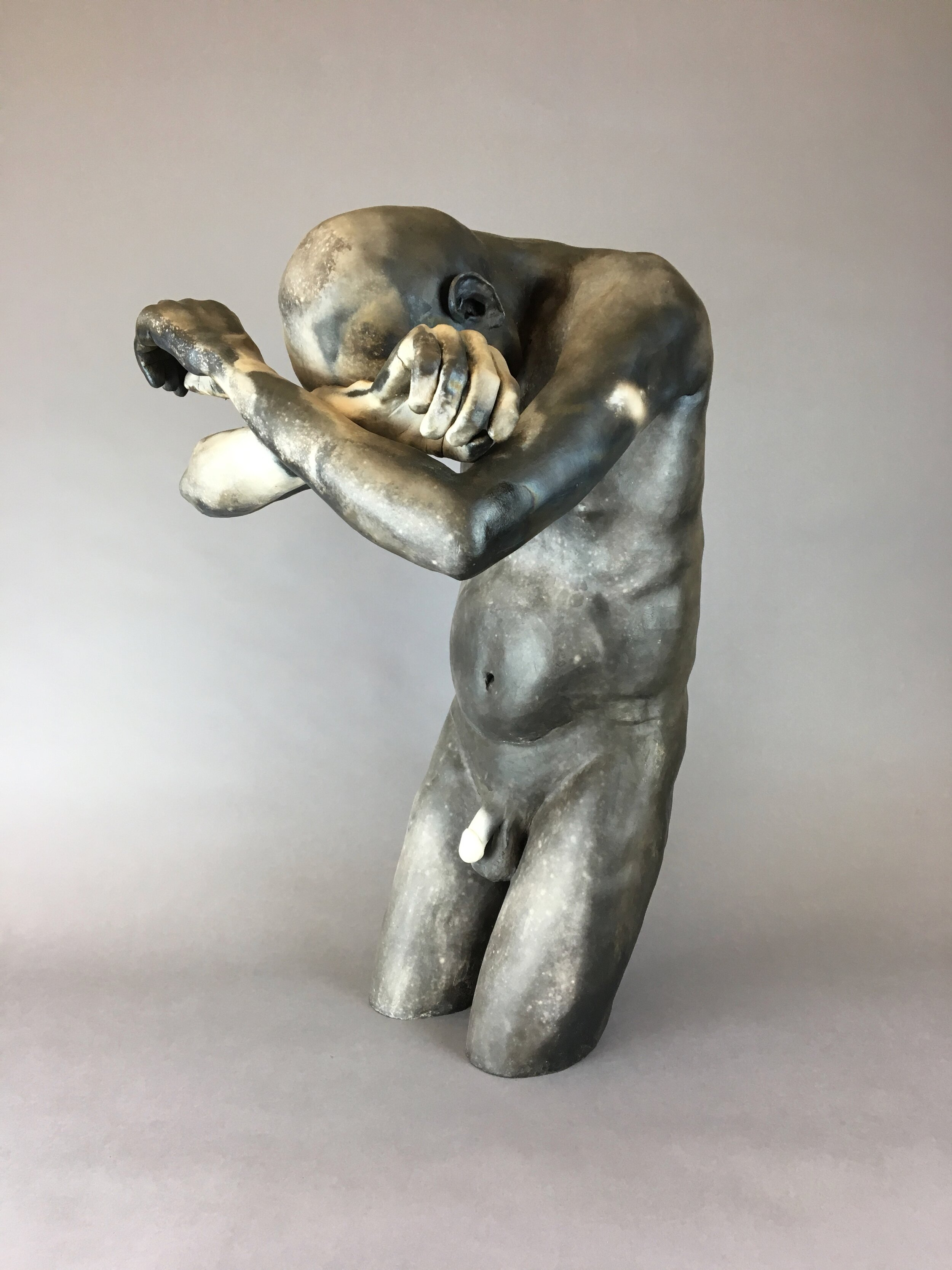 """Hope Of Generations    Pit-fired ceramic  26"""" x 14"""" x 17""""  $4000  Click image to enlarge ⦿  Inquire"""
