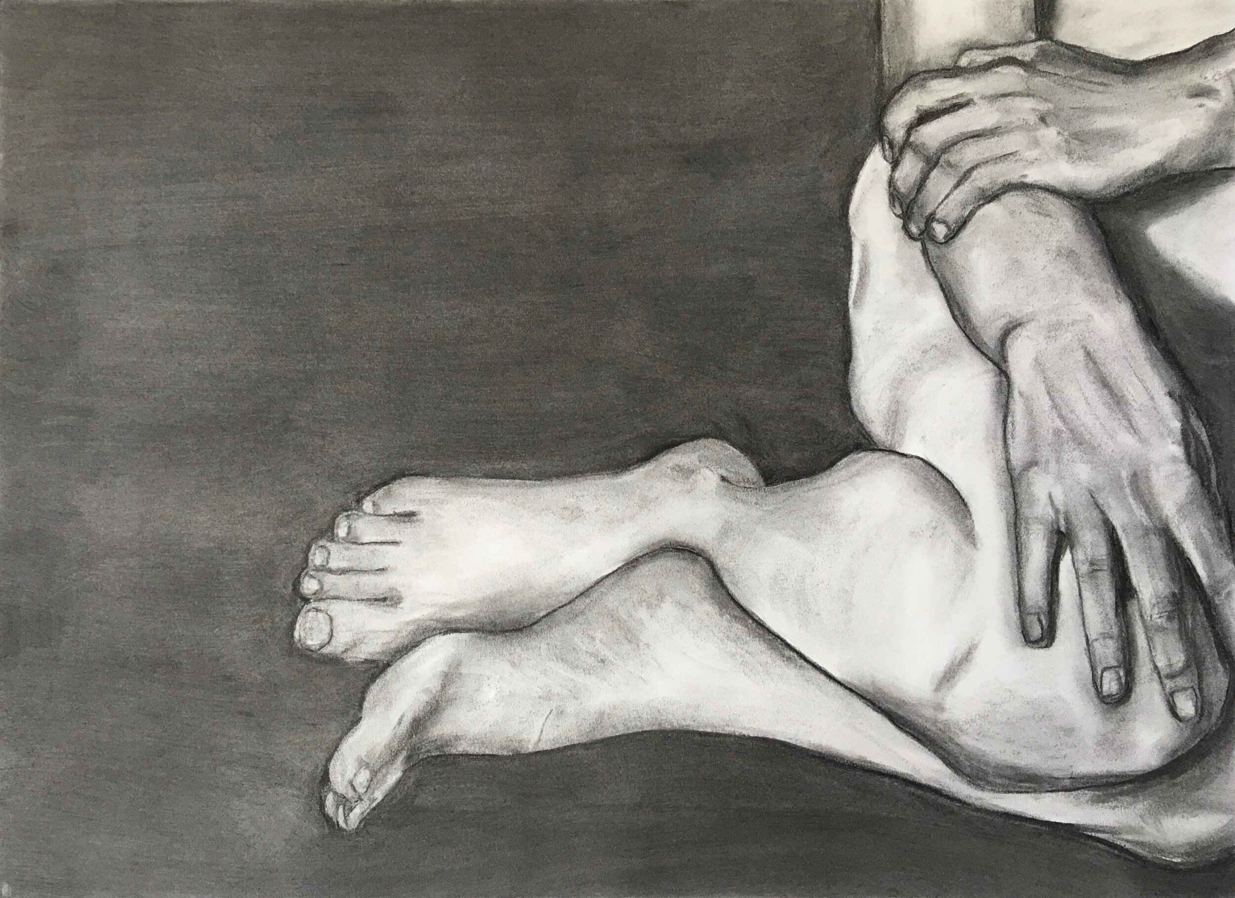 """Spatial Study No. 1    Charcoal on paper  18"""" x 24"""" (framed)  $400  Click image to enlarge ⦿  Inquire"""