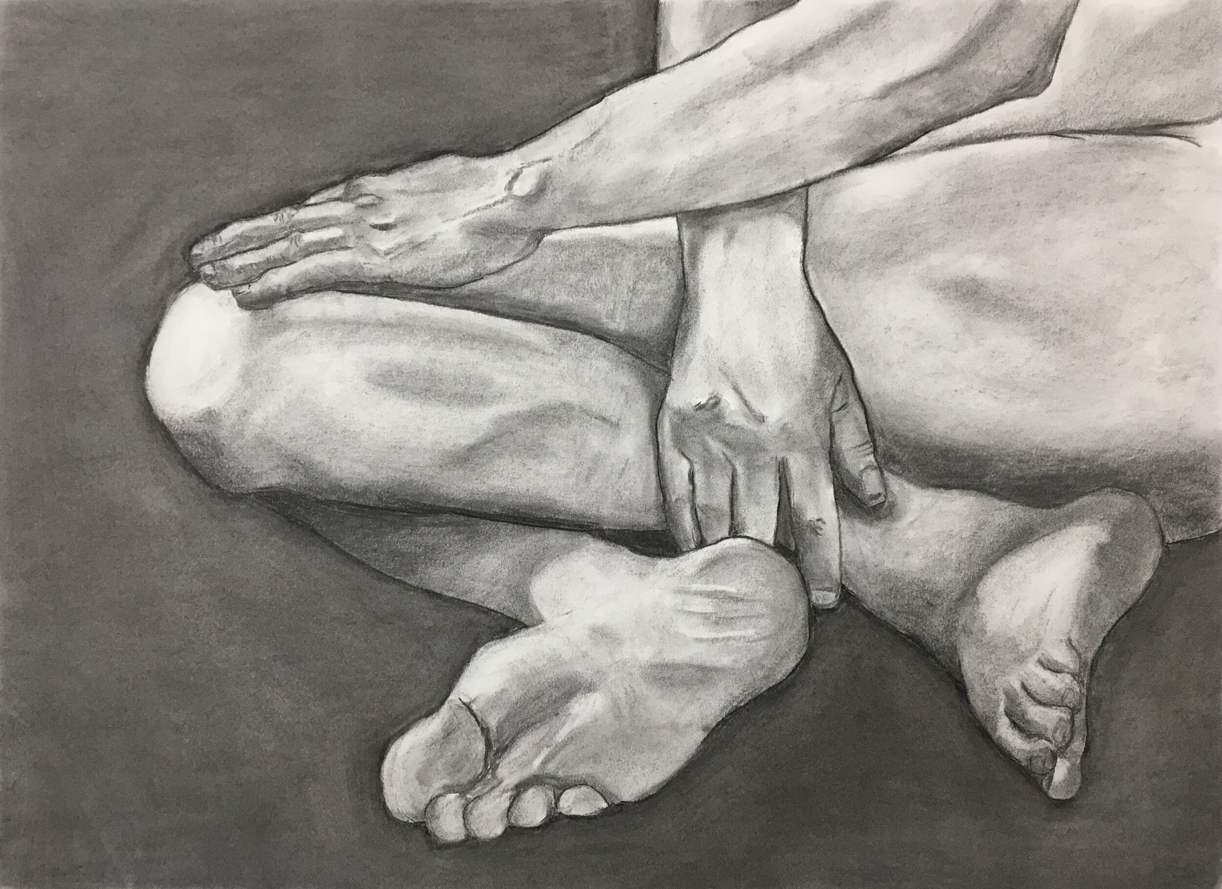 """Spatial Study No. 3    Charcoal on paper  18"""" x 24"""" (framed)  $400  Click image to enlarge ⦿  Inquire"""