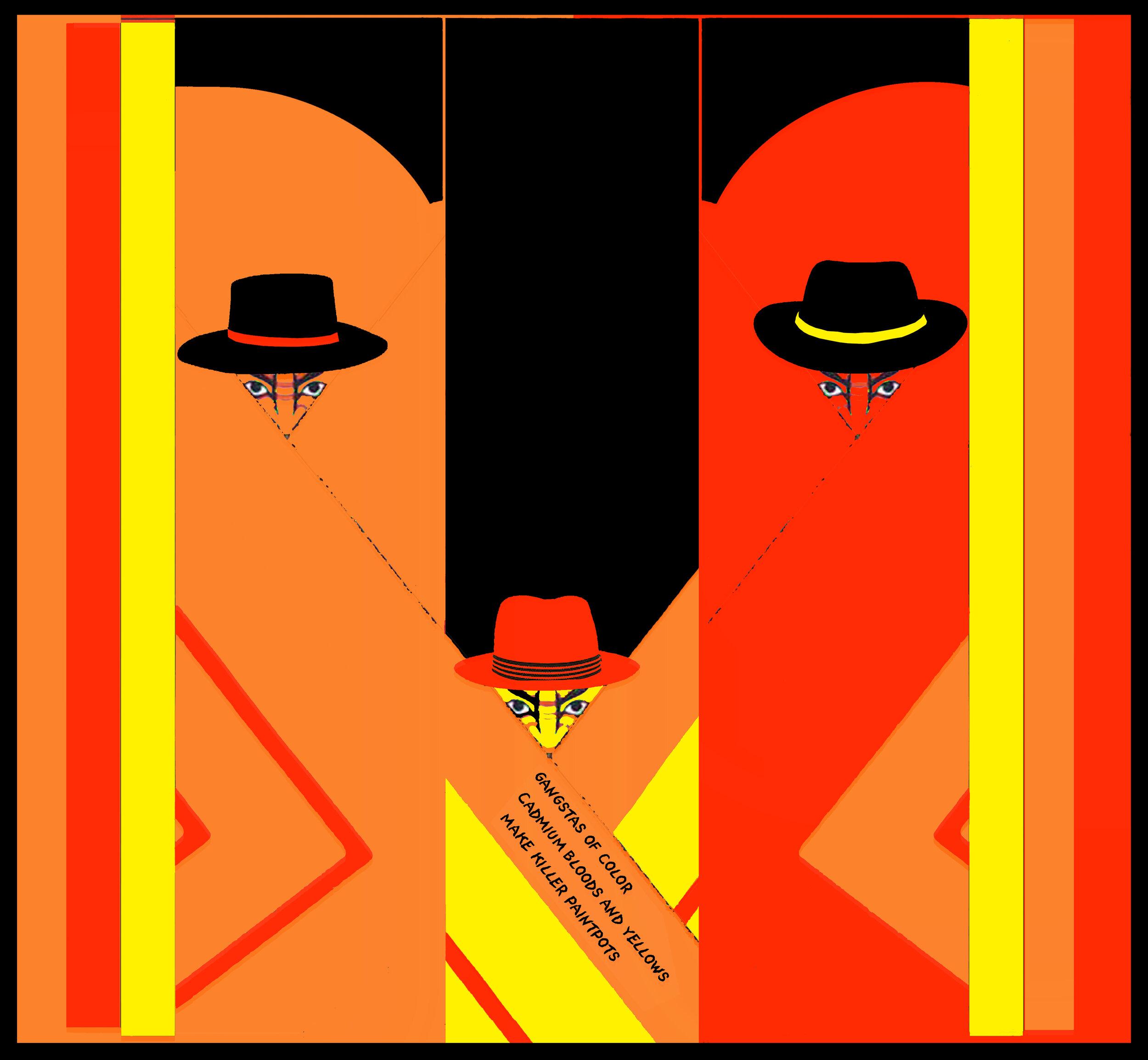 """Cadmium 48    Archival Pigment Print (Edition of 5)  24"""" x 26""""  $550  Click image to enlarge ⦿  Inquire"""