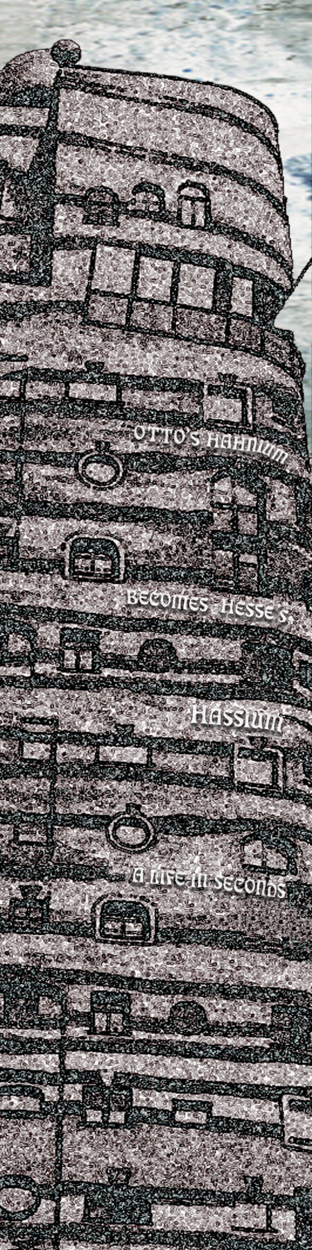 """Hassium    Archival Pigment Print with Beeswax Mounted on Birch Panel  24"""" x 6""""  $250  Click image to enlarge ⦿  Inquire"""