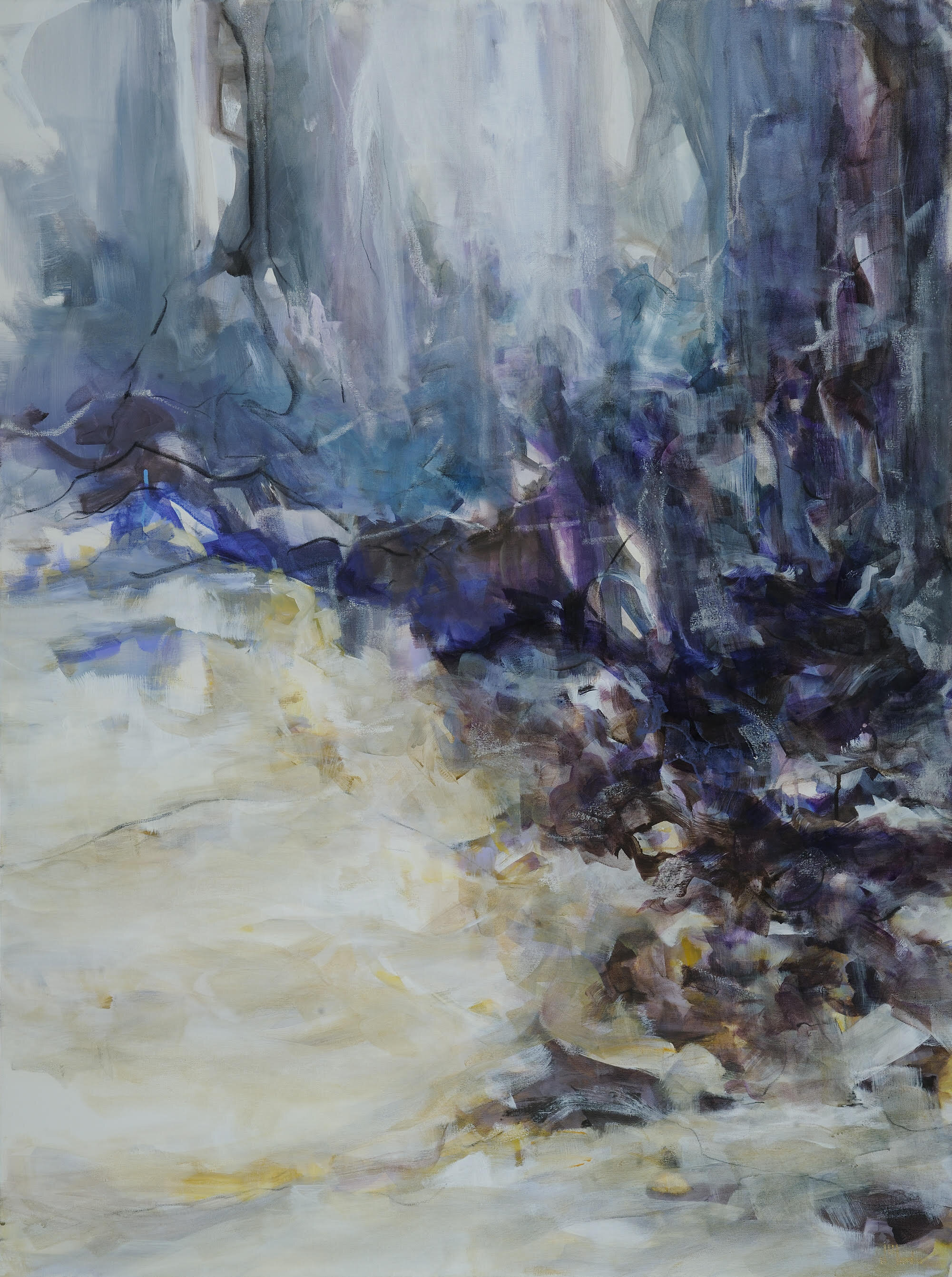 "Cascade    Mixed Media on Canvas  36"" x 48""   $3500"
