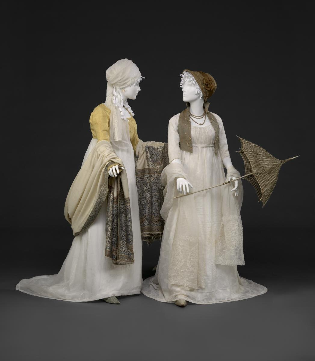 """Photo courtesy of  www.dar.org , from the DAR Museum exhibit, """"An Agreeable Tyrant: Fashion After the American Revolution."""""""