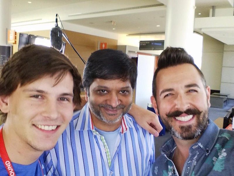 Photo of Rand, Dharmesh and myself at INBOUND 2014.