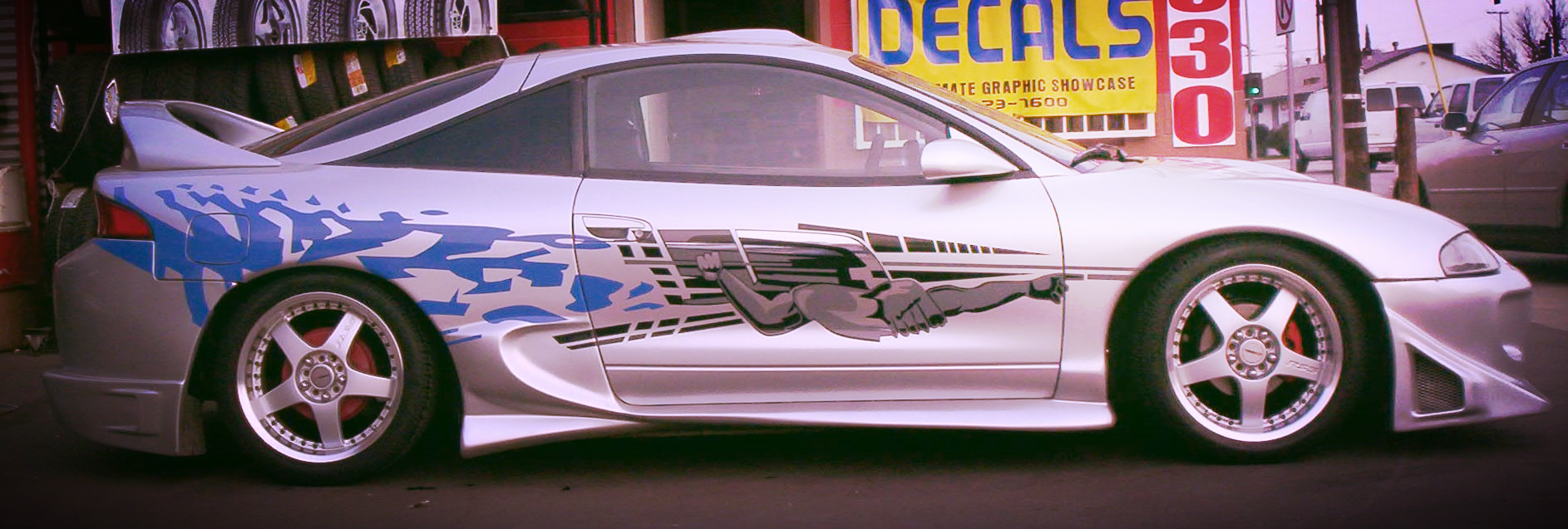 """When the movie """"Fast and the Furious"""" came out,we were the go to shop for vinyl graphics."""