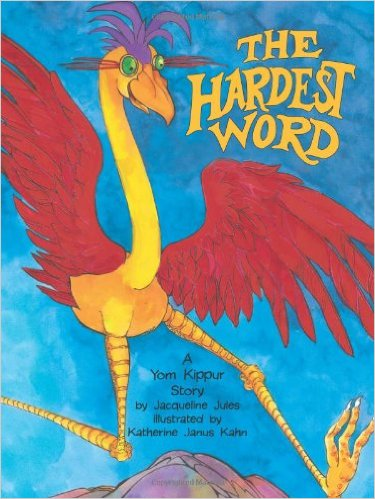 "The only actual ""Jewish"" book on our list, The Hardest Word is a sweet story about The Ziz, a clumsy and big-hearted bird, who learns the importance of an apology. Great for Pre-K, K and 1st."