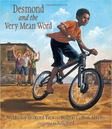 A moving story of forgiveness by Desmond Tutu, based on his childhood in South Africa. Thought-provoking and powerful, Desmond and the Very Mean Word is appropriate for more mature elementary students.