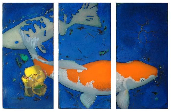 "340 Ultra Marine Deep 31"" x 24"" Oil on wood panel SOLD"
