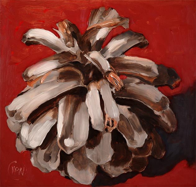92 - Red Pinecone - SOLD