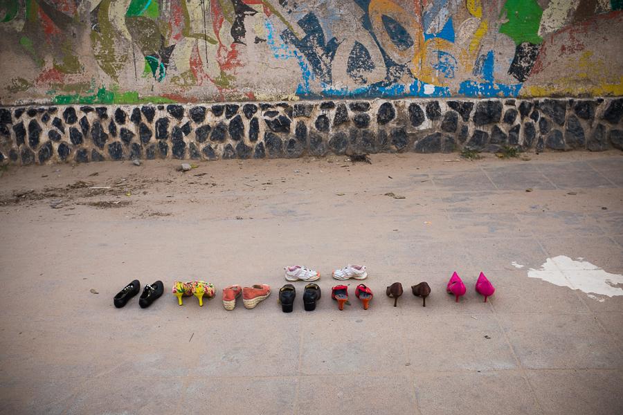 Shoes for sale, Mozambique