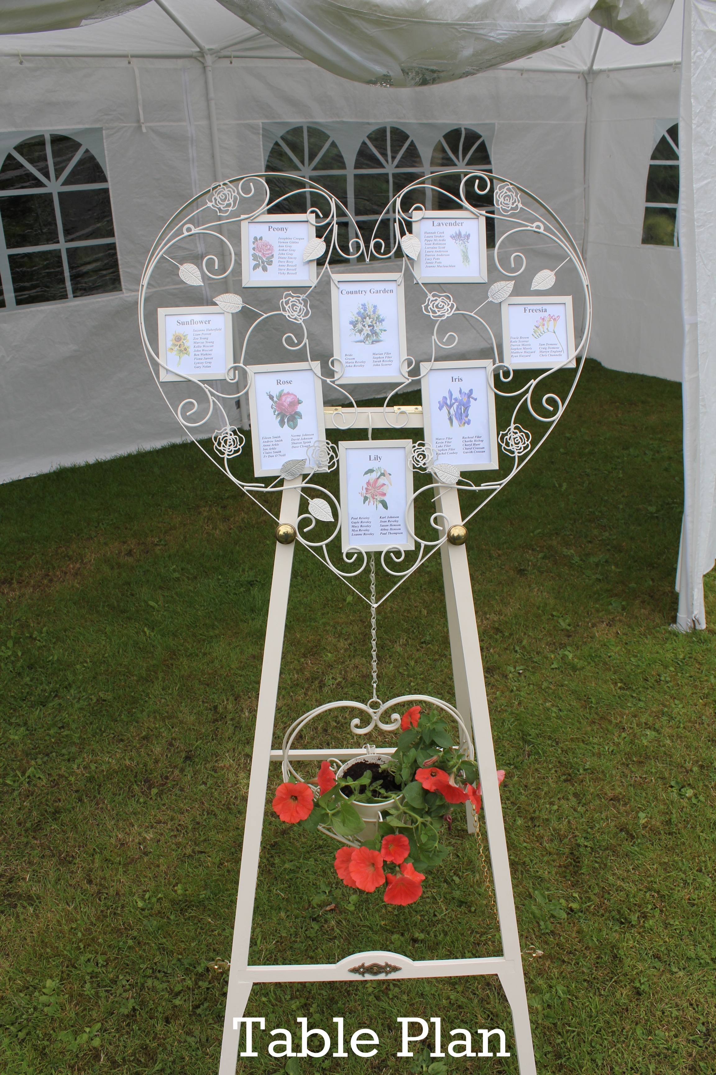 Table Plan stand