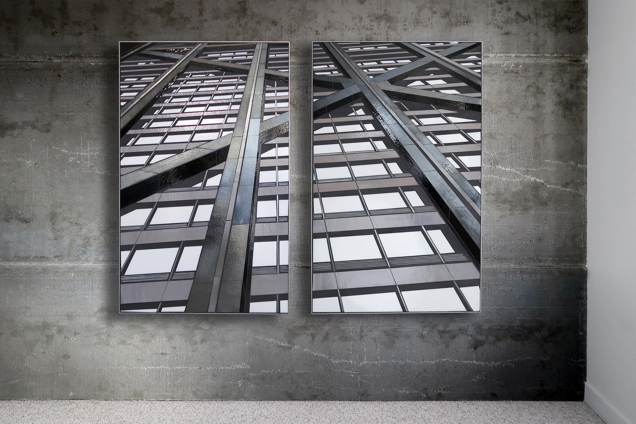 "Reflect 3.4a+b Hancock each 30"" x 48"" glass c Heather Hancock 2018"